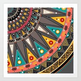 Ethnic tribal ornament Art Print