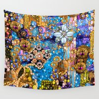 arab Wall Tapestries featuring Gold, Glitter, Gems and Sparkles by Joke Vermeer