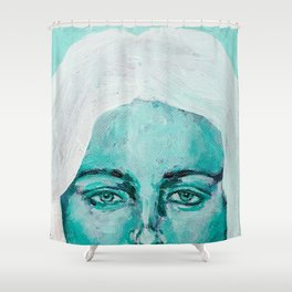 Mint Girl Shower Curtain