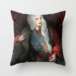 Snow White in The Forest Throw Pillow