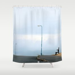 Right here waiting Shower Curtain