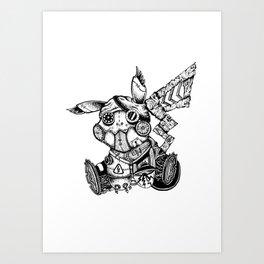 Steampunkachu Art Print