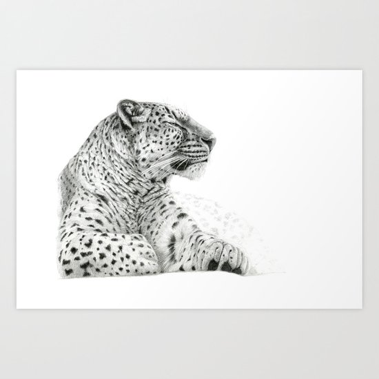 Persian Leopard G2011-025 Art Print