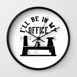 I'll be in my office Carpenter Woordworking Wall Clock