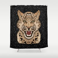leopard Shower Curtains featuring Leopard by ArtLovePassion