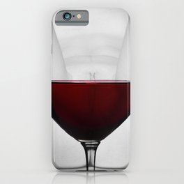 Red wine and naked woman iPhone Case