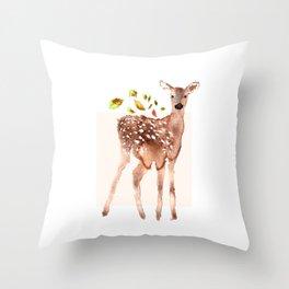 cervidae Throw Pillow