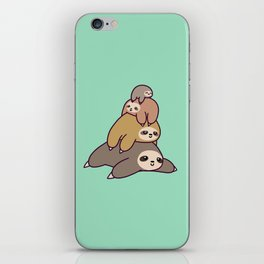Sloth Stack iPhone Skin