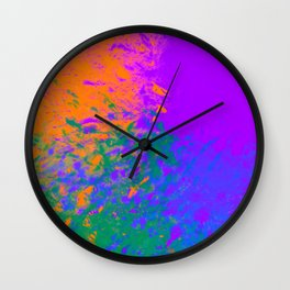 Iridescent Fury Wall Clock