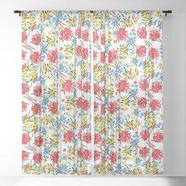 Wildflower Watercolor Sheer Curtain
