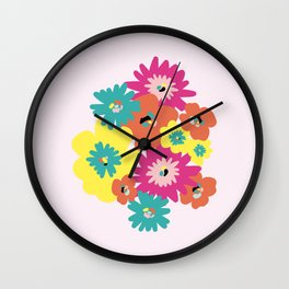 Late spring flowers Wall Clock