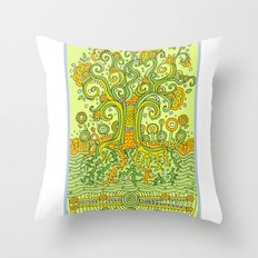 Treedum Throw Pillow