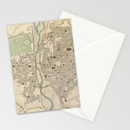 Vintage Map of Parma Italy (1840) Stationery Cards