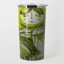 """Matrioska. 2 """" our color green"""" Travel Mug"""