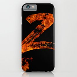 Burning on Fire Letter Z iPhone Case