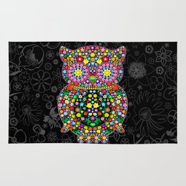 Owl Zentangle Floral   Rug