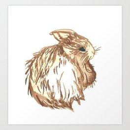 Little Brown Bunny Art Print