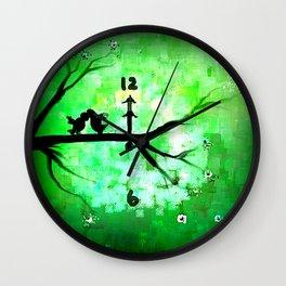 A Kiss at Midnight Wall Clock
