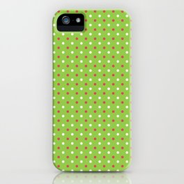 Red And White Polka Dot Christmas Pattern iPhone Case