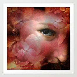 """Lady in autumn rose"" Art Print"