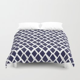 Rhombus Blue And White Duvet Cover