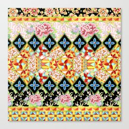 Folkloric Crazy Quilt (printed) Canvas Print