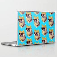 doge Laptop & iPad Skins featuring Polygonal Doge  by Michael Fortman
