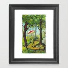 Frog in the Forest Framed Art Print