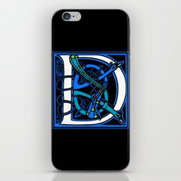 Celtic Peacocks Letter D iPhone Skin