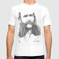 Moustache White MEDIUM Mens Fitted Tee