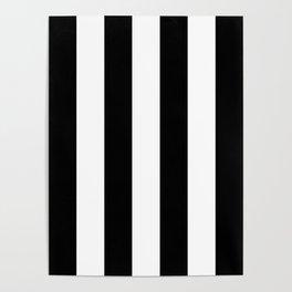 Vertical Black Stripes Poster