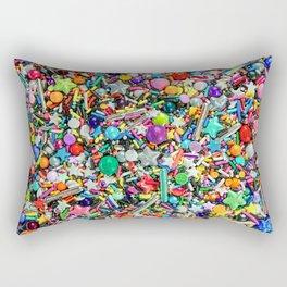 Rainbow Sprinkles - cupcake toppings galore Rectangular Pillow