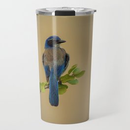 Bluebird of my Happy Space by Reay of Light Travel Mug