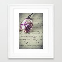 letter Framed Art Prints featuring Love letter by Maria Heyens