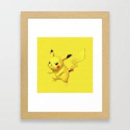 Electric Mouse - Legobrick Framed Art Print