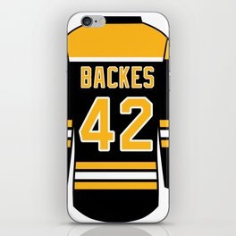 David Backes Jersey iPhone Skin