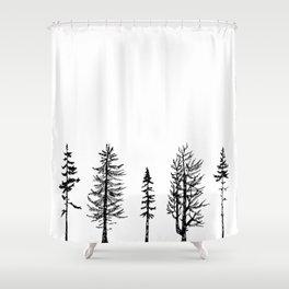 A Few Trees Shower Curtain