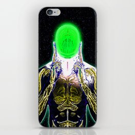 MIND #4 Concentrating Meditation Psychedelic Ethereal Character iPhone Skin
