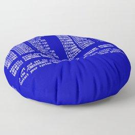 Bluescreen Floor Pillow
