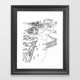 India - Ganges river in Varanasi Framed Art Print