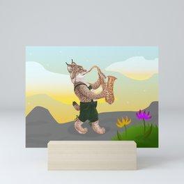 The Musical Bobcat Mini Art Print