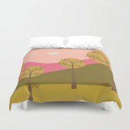 Kawai landscape autumn Duvet Cover