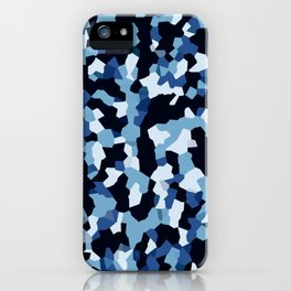 Pix Camo Shades of Blue iPhone Case