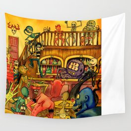 A Town Called Morteville Wall Tapestry