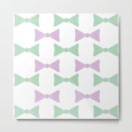 Bow Pattern Metal Print