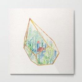 Terrarium Garden I Metal Print