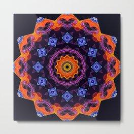 Complex Mandala Metal Print