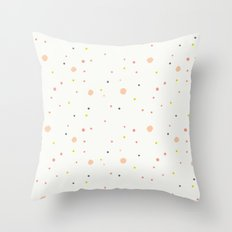 Colorful confetti Throw Pillow