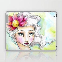 Lotus Flower Girl Laptop & iPad Skin