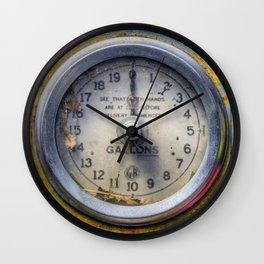 Old Petrol Pump Gauge Wall Clock